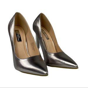 Olivia Miller  Silver Point Toe Stiletto Heels NWT